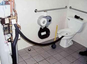 solaire dans les toilettes