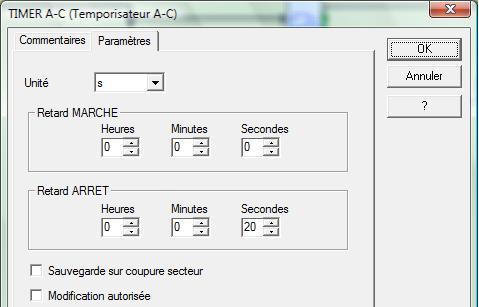 param TIMER A-C relais TA circulateur
